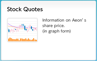 Stock Quotes Information on Aeon's share price (in graph form)