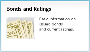 Bonds and Ratings  Basic information on issued bonds and current ratings