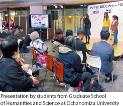 Presentation by students from Graduate School of Humanities and Science at Ochanomizu University