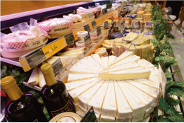 """Cheese Life"" offers about 130 kinds of natural cheese, mainly from Europe"
