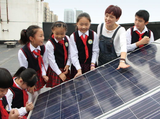 Photovoltaic power system donated to Guanggu No.9 Elementary School on October 16