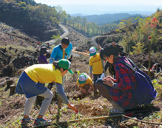 """Kaketa City, Oita Prefecture Tree-planting"" conducted on November 12"