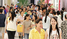 Aeon Mall Phnom Penh with numerous numbers of visitors